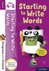 Progress with Oxford: Starting to Write Words Age 4-5 - Book