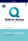 Q: Skills for Success: Level 2: Listening and Speaking Teacher's Handbook with Teacher's Access Card - Book