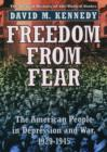 Freedom from Fear : The American People in Depression and War 1929-1945 - Book
