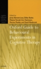 Oxford Guide to Behavioural Experiments in Cognitive Therapy - Book