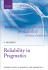 Reliability in Pragmatics - Book