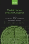 Modality Across Syntactic Categories - Book