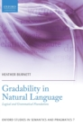 Gradability in Natural Language : Logical and Grammatical Foundations - Book