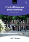 Criminal Litigation and Sentencing - Book