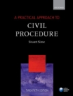 A Practical Approach to Civil Procedure - Book