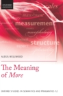 The Meaning of More - Book