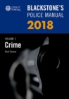 Blackstone's Police Manual Volume 1: Crime 2018 - Book