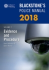 Blackstone's Police Manual Volume 2: Evidence and Procedure 2018 - Book