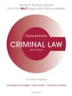 Criminal Law Concentrate : Law Revision and Study Guide - Book