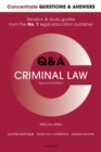 Concentrate Q&A Criminal Law : Law Revision and Study Guide - Book