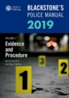 Blackstone's Police Manuals Volume 2: Evidence and Procedure 2019 - Book