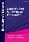 Blackstone's Statutes on Contract, Tort & Restitution 2019-2020 - Book