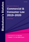 Blackstone's Statutes on Commercial & Consumer Law 2019-2020 - Book