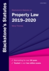 Blackstone's Statutes on Property Law 2019-2020 - Book