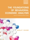 The Foundations of Behavioral Economic Analysis : Vol IV: Behavioral Game Theory - Book