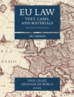 EU Law : Text, Cases, and Materials UK Version - Book