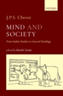Mind and Society : From Indian Studies to General Sociology - eBook
