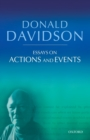 Essays on Actions and Events : Philosophical Essays Volume 1 - Book