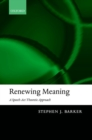 Renewing Meaning : A Speech-Act Theoretic Approach - Book