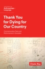 Thank You for Dying for Our Country : Commemorative Texts and Performances in Jerusalem - eBook