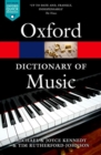 The Oxford Dictionary of Music - Book