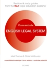 English Legal System Concentrate : Law Revision and Study Guide - Book