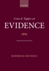 Cross & Tapper on Evidence - Book