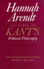 Lectures on Kant's Political Philosophy - Book