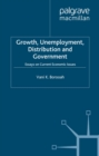 Growth, Unemployment, Distribution and Government : Essays on Current Economic Issues - eBook