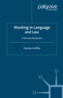 Working in Language and Law : A German Perspective - eBook