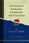 A Course in Inorganic Chemistry for Colleges - eBook