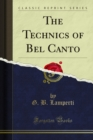 The Technics of Bel Canto - eBook