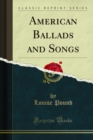 American Ballads and Songs - eBook