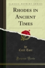 Rhodes in Ancient Times - eBook