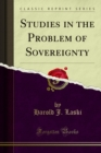 Studies in the Problem of Sovereignty - eBook
