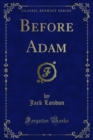 Before Adam - eBook