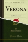 Verona : And Other Lectures - eBook