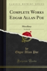 Complete Works Edgar Allan Poe : Miscellany - eBook