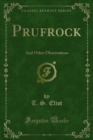 Prufrock : And Other Observations - eBook
