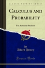 Calculus and Probability : For Actuarial Students - eBook