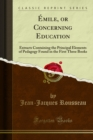 Emile or Concerning Education - eBook