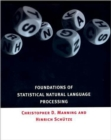 Foundations of Statistical Natural Language Processing - Book
