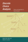 Discrete Choice Analysis : Theory and Application to Travel Demand - Book
