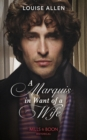 A Marquis In Want Of A Wife - Book