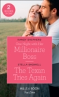One Night With Her Millionaire Boss / The Texan Tries Again : One Night with Her Millionaire Boss / the Texan Tries Again (Men of the West) - Book
