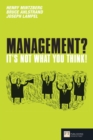 Management? It's not what you think! - Book