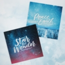Festive Text 10-Pack Christmas Cards : Star of Wonder and Peace on Earth - Book