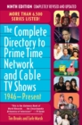 The Complete Directory to Prime Time Network and Cable TV Shows, 1946-Present - eBook