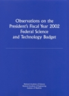Observations on the President's Fiscal Year 2002 Federal Science and Technology Budget - eBook
