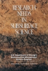 Research Needs in Subsurface Science - eBook